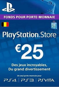 Carte PlayStation Network (PSN) - 25 EUR (Belgique)
