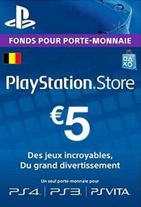 Carte PlayStation Network (PSN) - 5 EUR (Belgique)