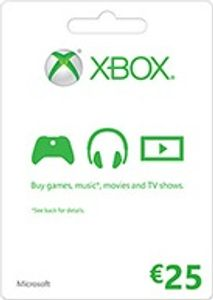 Carte cadeau Microsoft - 25 euros (Xbox One/360)