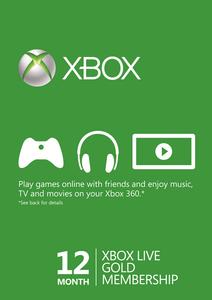 12 Month Xbox Live Gold Membership - (EU)
