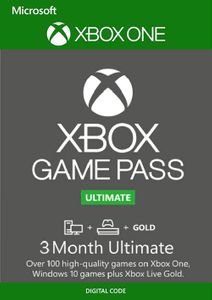 3 Month Xbox Game Pass Ultimate Xbox One / PC
