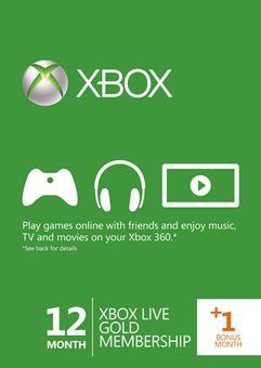 12 + 1 Month Xbox Live Gold Membership (Xbox 360)
