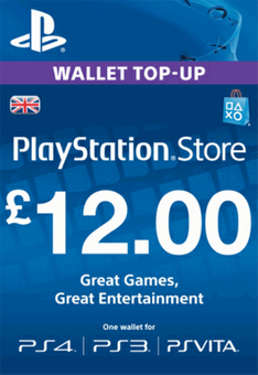 PlayStation Network Card - £12 (PS Vita/PS3/PS4)