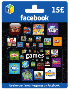 Facebook Game Card - 15 GBP
