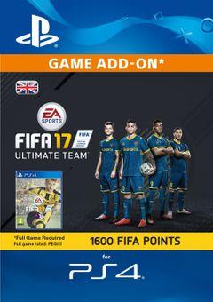 1600 FIFA 17 Points PS4 PSN Code - UK account