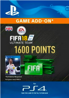 1600 FIFA 18 Points PS4 PSN Code - UK account