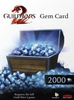 Guild Wars 2 2000 Gem Points Card (PC)