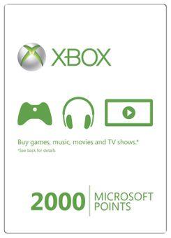 Xbox Live 2000 Microsoft Points (Xbox 360)