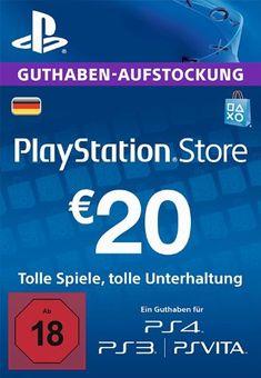 PlayStation Store Guthaben-Aufstockung 20 EUR