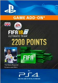 2200 FIFA 18 Points PS4 PSN Code - UK account