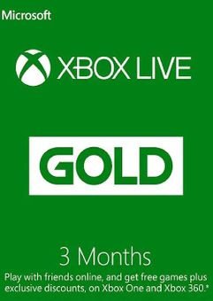 3 Month Xbox Live Gold Membership Card  (EU)
