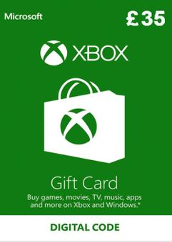 Microsoft Gift Card - £35 (Xbox One/360)