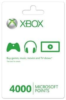 Xbox Live 4000 Microsoft Points (Xbox 360)