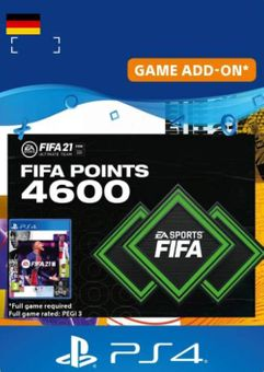 FIFA 21 Ultimate Team 4600 Points Pack PS4/PS5 (Germany)