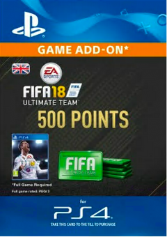 500 FIFA 18 Points PS4 PSN Code - UK account
