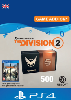 Tom Clancy's The Division 2 PS4 - 500 Premium Credits Pack