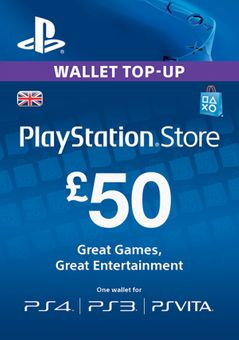 Playstation Network (PSN) Card - £50 (UK)