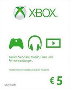 Microsoft Gift Card - €5 EUR Xbox One/360