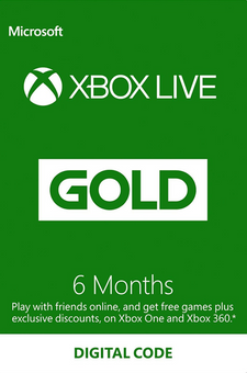 6 Month Xbox Live Gold Membership (Xbox One/360)