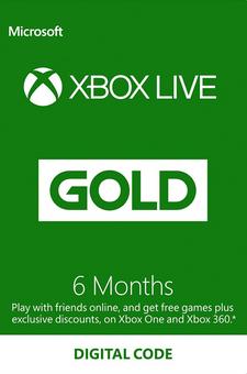 6 Month Xbox Live Gold Membership (EU)