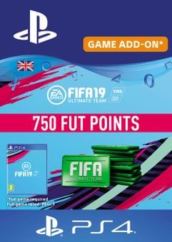 750 FIFA 19 Points PS4 PSN Code - UK account