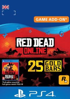 Red Dead Online: 25 Gold Bars PS4 (UK)