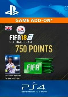 750 FIFA 18 Points PS4 PSN Code - UK account