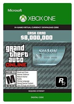 GTA V 5 Megalodon Shark Cash Card - Xbox One Digital Code
