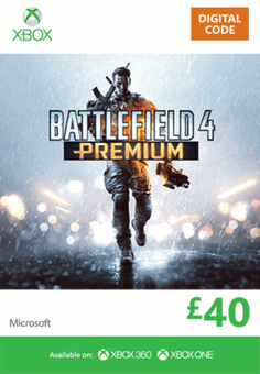 Xbox Live 40 GBP Gift Card: Battlefield 4 Premium (Xbox 360/One)