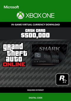 GTA Online Bull Shark Cash Card - $500,000 Xbox One