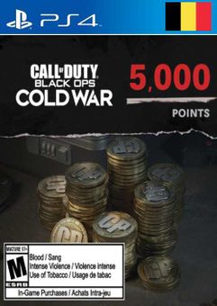 Call of Duty: Black Ops Cold War - 5000 Points PS4/PS5 (Belgium)