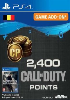 Call of Duty Modern Warfare 2400 Points PS4 (Belgium)