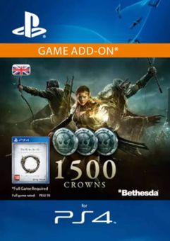 The Elder Scrolls Online: Tamriel Unlimited - 1500 Crowns PS4 (UK)