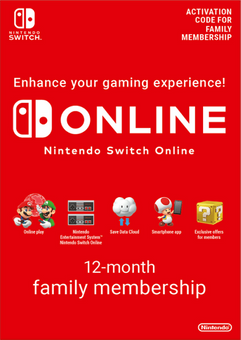Nintendo Switch Online 12 Month (365 Day) Family Membership Switch (US)
