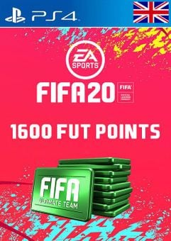 1600 FIFA 20 Ultimate Team Points PS4 PSN Code - UK account
