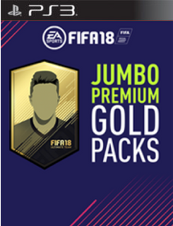FIFA 18 PS3 - 5 Jumbo Premium Gold Packs DLC