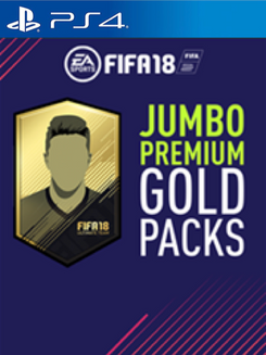 FIFA 18 PS4 - 5 Jumbo Premium Gold Packs DLC