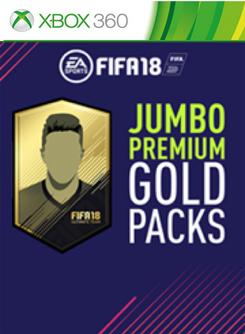 FIFA 18 (Xbox 360) - 5 Jumbo Premium Gold Packs DLC
