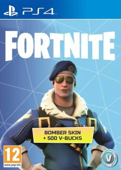 Fortnite Bomber Skin + 500 V-Bucks PS4