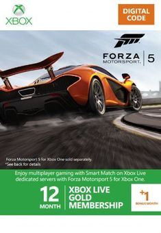 12 + 1 Month Xbox Live Gold Membership - Forza 5 Branded (Xbox One/360)