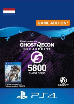 Ghost Recon Breakpoint - 5800 Ghost Coins PS4 (Netherlands)