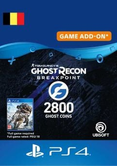 Ghost Recon Breakpoint - 2800 Ghost Coins PS4 (Belgium)