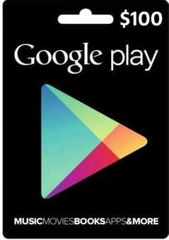 Google Play Gift Card $100 USD