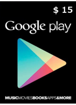 Google Play 15 USD
