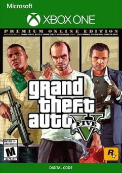 Grand Theft Auto V 5: Premium Online Edition Xbox One (UK)