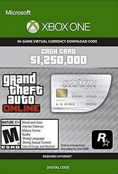 Grand Theft Auto V - Great White Shark Cash Card Xbox One (UK)