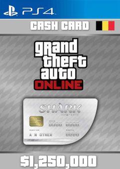 Grand Theft Auto Online Great White Shark Cash Card PS4 (Belgium)