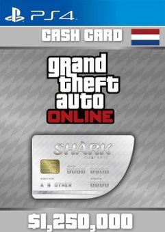 Grand Theft Auto Online Great White Shark Cash Card PS4 (Netherlands)