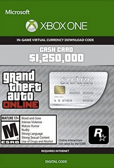 GTA V 5 Great White Shark Cash Card - Xbox One Digital Code