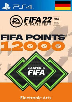 FIFA 22 Ultimate Team 12000 Points Pack  PS4/PS5 (Germany)